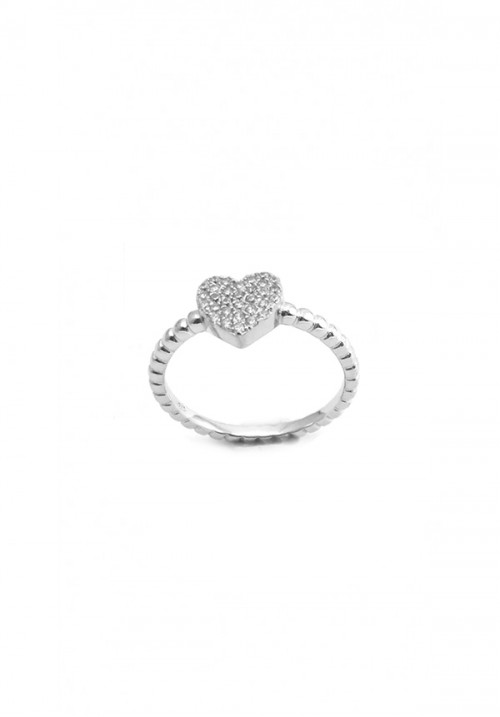 Anello Donna in Argento e Zirconi - Cuore Brilliant