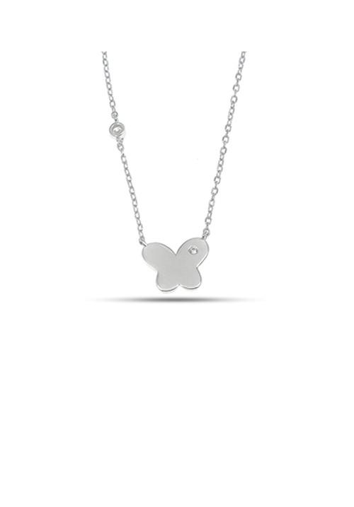 Collana con farfalla in Argento 925 con zircone