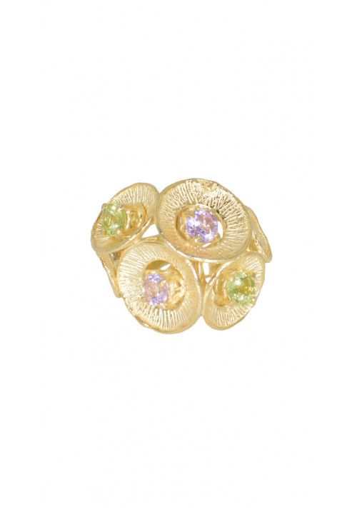 Anello in argento 925- Pietre naturali di più colori