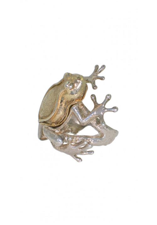 Anello in argento 925 - Rana