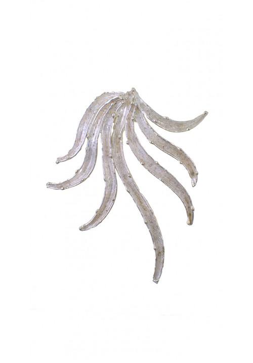 Ciondolo in argento 925 forma astratta