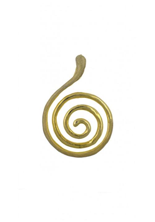 Ciondolo in argento 925 dorato a forma di spirale