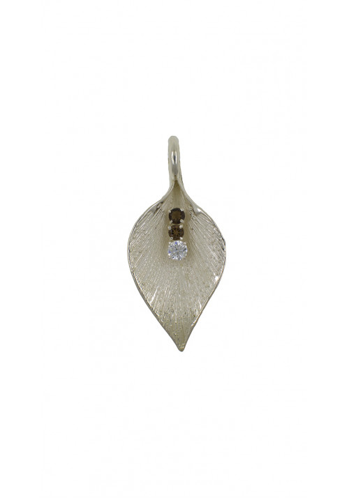 Ciondolo in argento 925 a forma di foglia