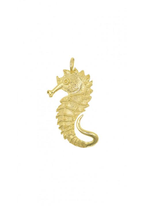 Ciondolo in argento dorato | Cavalluccio marino