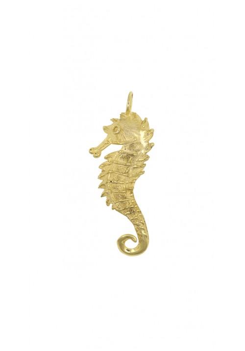 Ciondolo in argento 925 dorato cavalluccio marino