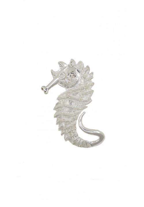 Ciondolo in argento a forma di cavalluccio marino