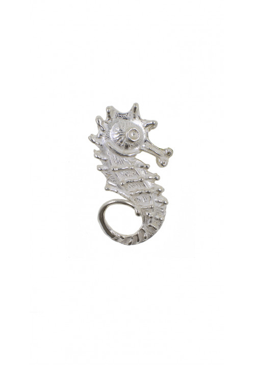 Ciondolo in argento 925 forma di cavalluccio marino