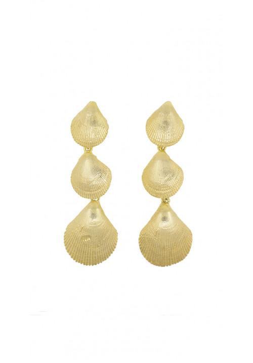 Orecchini argento 925 dorato conchiglie