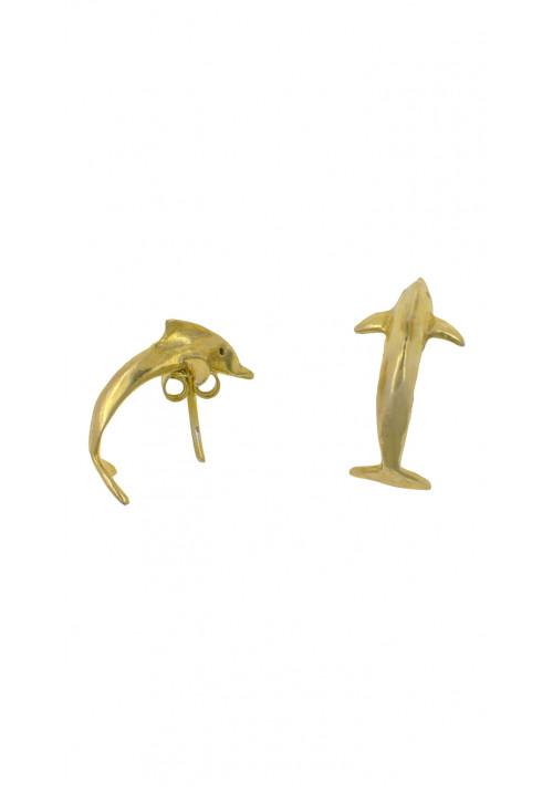 Orecchini argento 925 forma di delfino