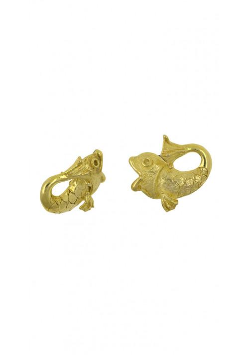 Orecchini argento 925 forma di pesce