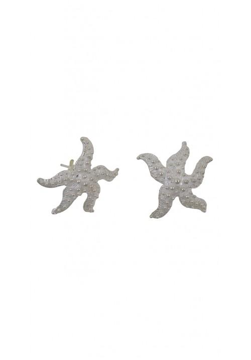 Orecchini argento 925 forma di stella marina