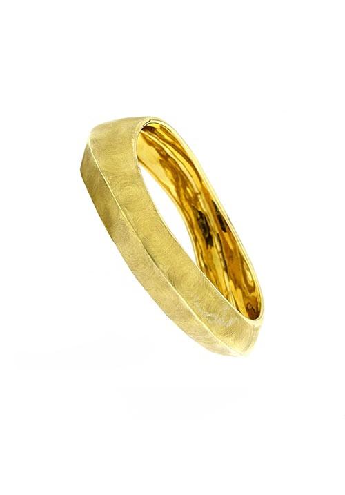 Bracciale Adami e Martucci rigido in argento dorato