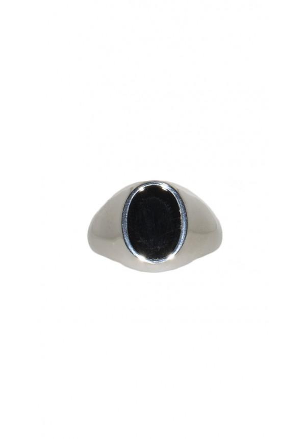 mode de vente chaude belle qualité quantité limitée Anello Uomo in Argento 925 con pietra centrale nera
