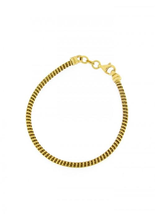 Bracciale Donna in Argento dorato - Modello Snake - BNBR22