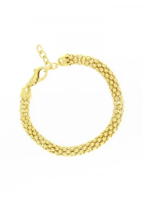 Bracciale Donna in Argento dorato - Modello Snake - BNBR06