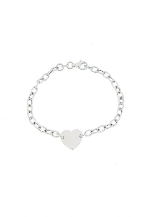 Bracciale in argento con centrale a forma di cuore