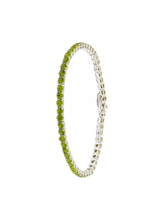 Bracciale Tennis in Argento  - Modello Green Brilliant - BRTEN11