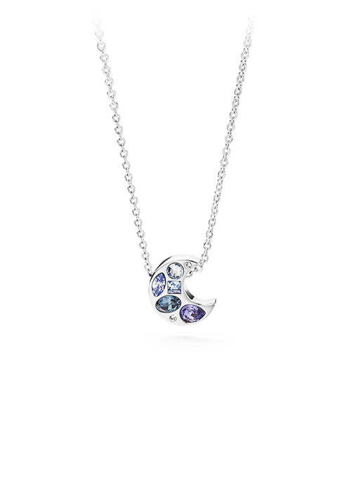 Collana Brosway - Ciondolo luna con cristalli swarovski blu - BKR02