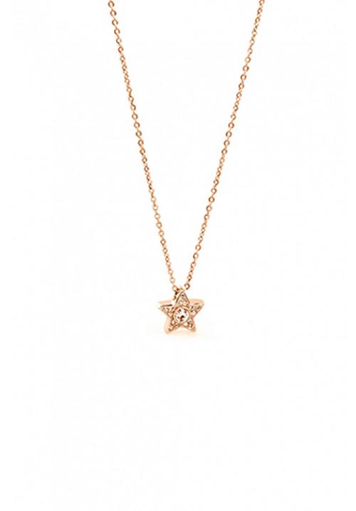 Collana Brosway - Ciondolo stella con swarovski - oro rosa - BEO06