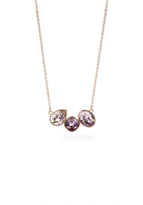 Collana Brosway collezione Dafne swarovski viola - oro rosa - bfn04