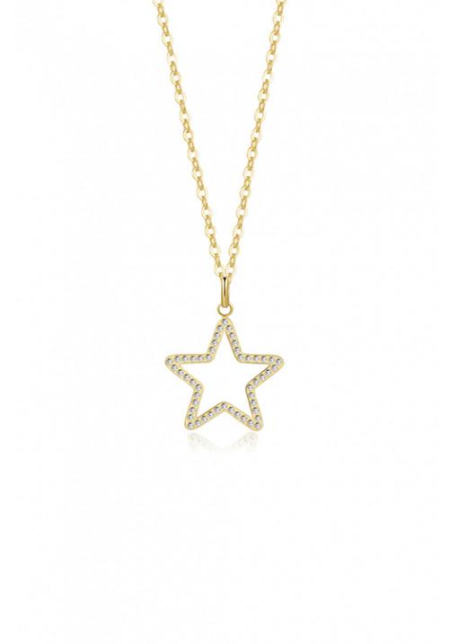 Collana Brosway - Ciondolo a forma di stella con swarovski - oro giallo - bvf02