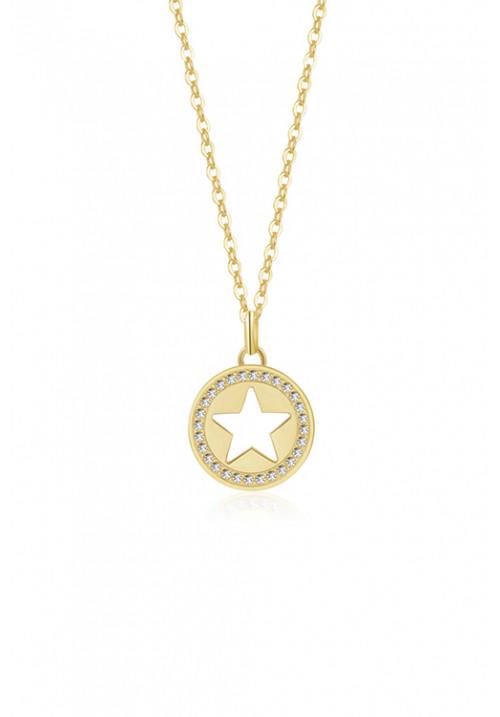 Collana Brosway - Ciondolo a forma di stella con swarovski - oro giallo - bvf05