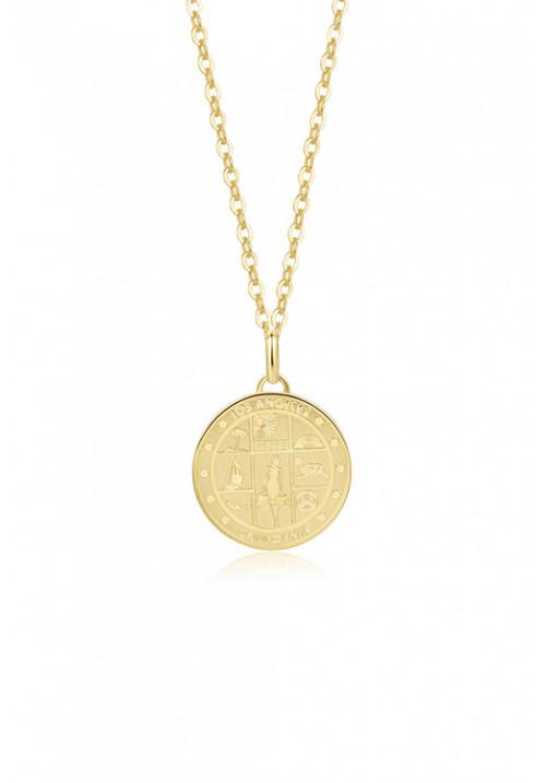 Collana Brosway - ciondolo a forma di piastrina Los Angeles - oro giallo - bvf06