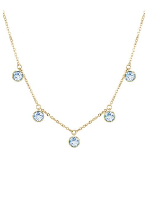 Collana Brosway collezione Symphonia Color Oro con cristalli swarovski blu - BYM14