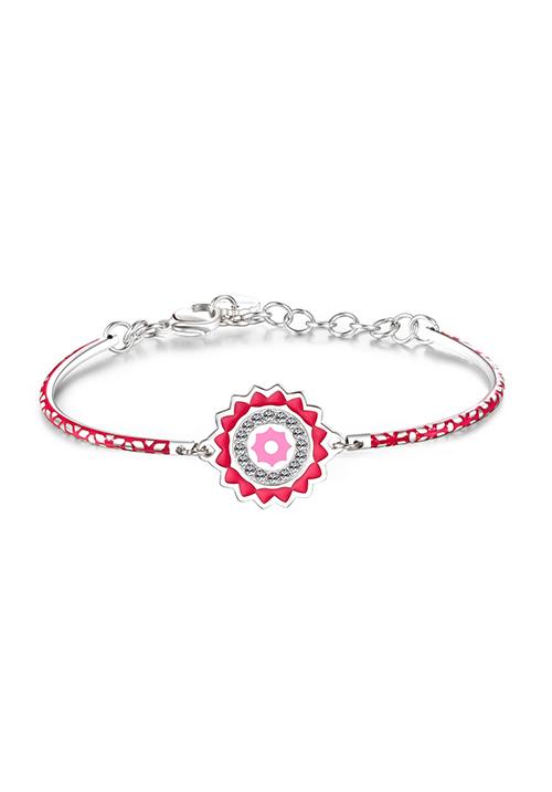 Bracciale Brosway -  Collezione Chakra | Con smalti rosa e cristalli Swarovski