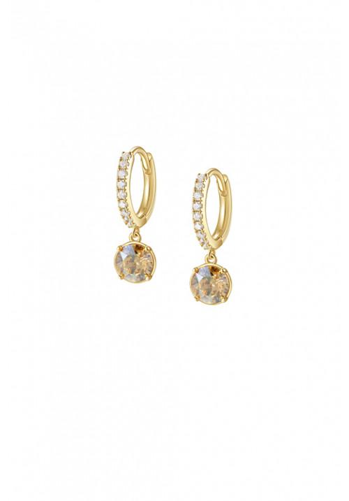 Orecchini Brosway Collezione Affinity Cerchietto e Cristalli Swarovski - oro giallo - bff138