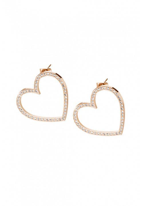 Orecchini Brosway Collezione Minuetto a forma di cuore con Cristalli Swarovski - BMU22