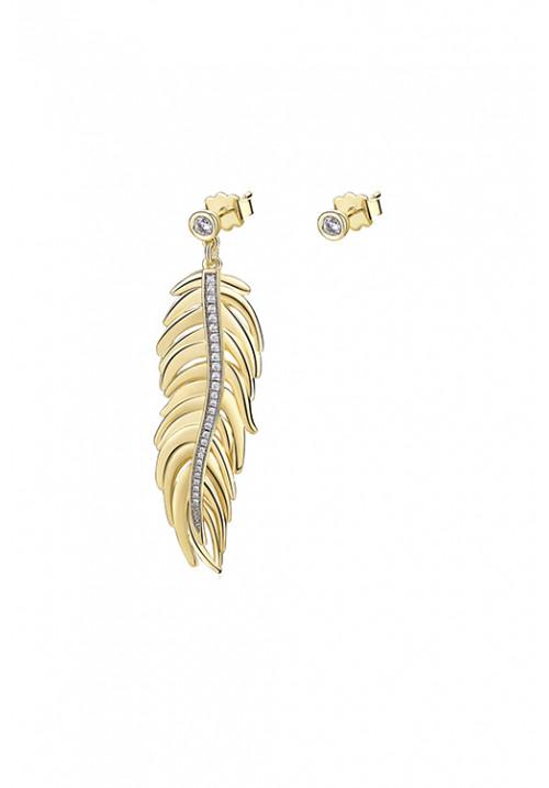 Orecchini Brosway pendente a forma di piuma - oro giallo -  BUM22