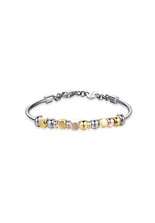 Bracciale Brosway in acciaio con pvd oro e pvd oro rosa - Collezione Tres Jolie