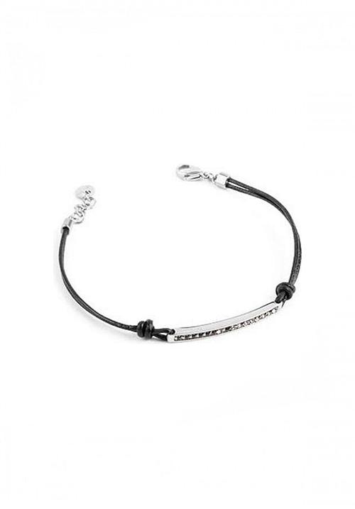 Bracciale Brosway collezione Starlet pelle nera e cristalli silver night