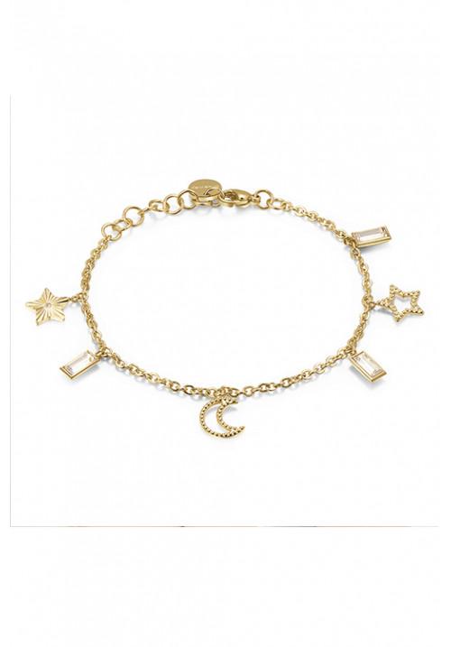 Bracciale Brosway pendenti stelle e lune oro - BAH14