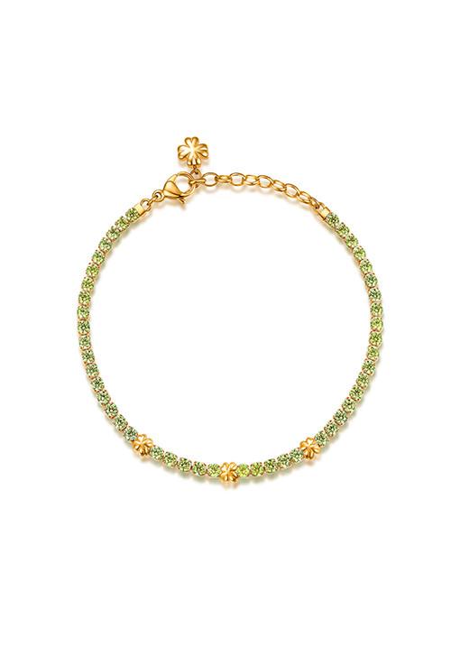 Bracciale Brosway -  Collezione Desideri|oro con quadrifoglio