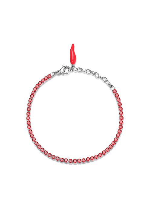 Bracciale Brosway -  Collezione Desideri|rosso con cornetto portafortuna