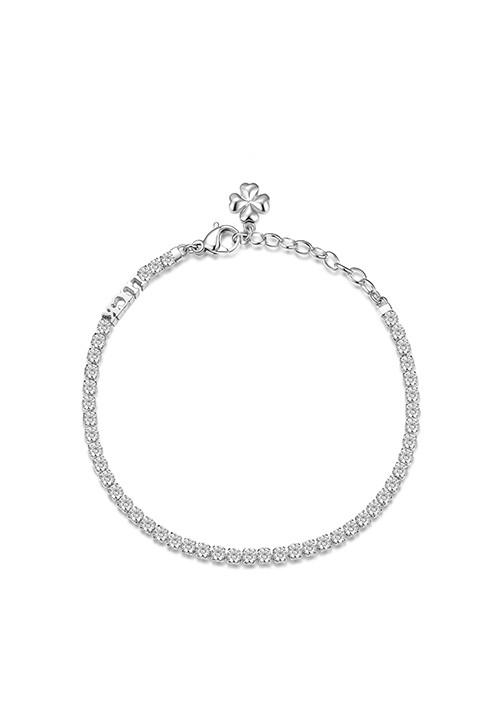 Bracciale Brosway -  Collezione Desideri|bianco con quadrifoglio