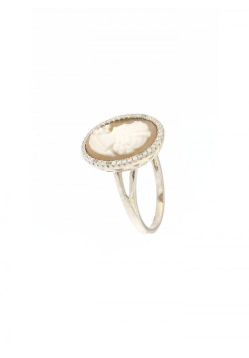 Anello Cammeo naturale in argento 925 - CMAN05