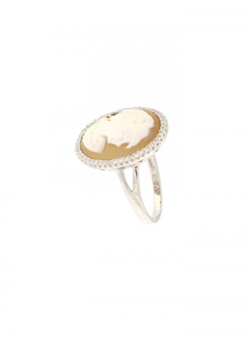 Anello Cammeo naturale in argento 925 - CMAN08