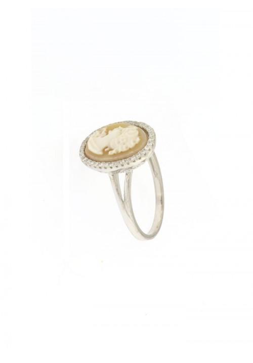 Anello Cammeo naturale in argento 925 - CMAN09