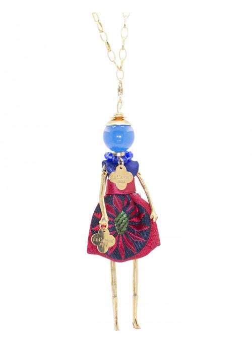 Collana Le Carose in argento 925 blu e rossa