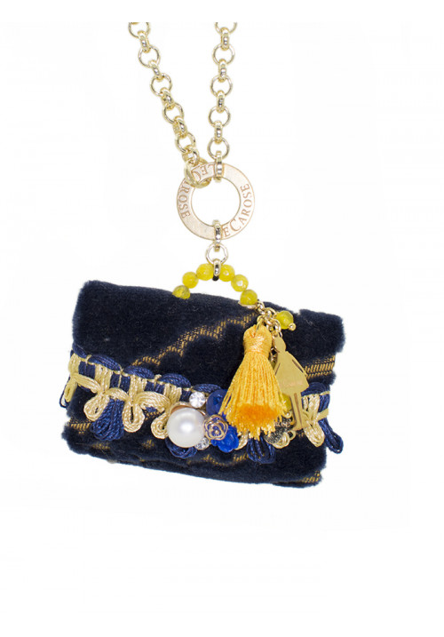 Collana Le Carose Borsetta blu