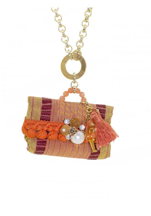 Collana Le Carose Borsetta arancione