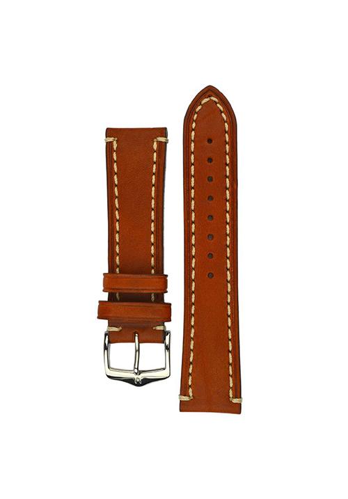 Cinturino Hirsch Liberty marrone dorato