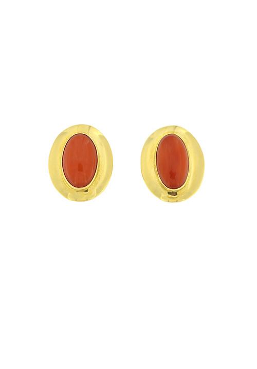 Orecchini corallo rosso e oro 18 kt