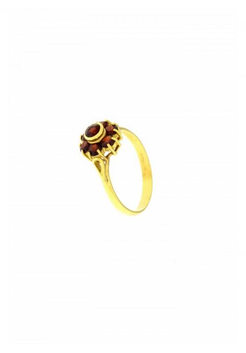 Anello con Granati Naturali in Oro 18 kt - GRAN06ORO