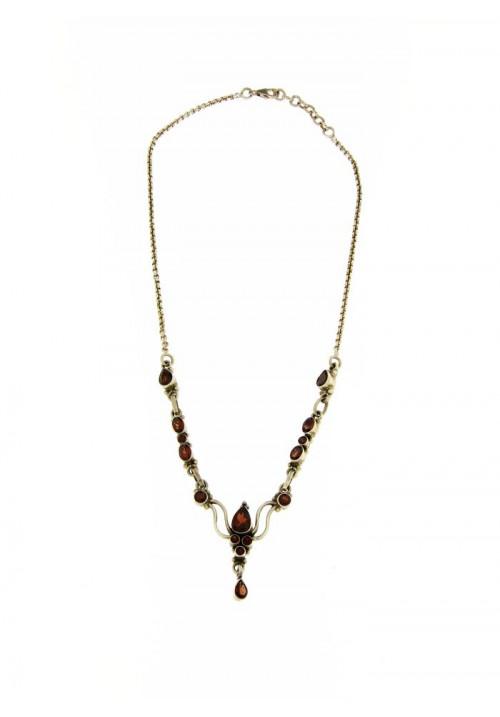 Collana in argento e Granato Naturale - GRCL01ARG