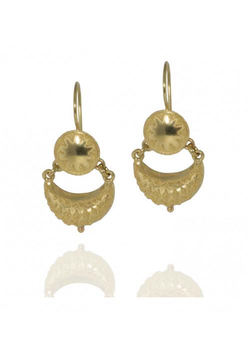 Orecchini in oro 18 kt stile etrusco