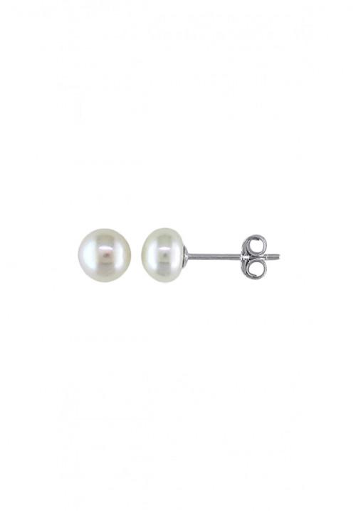 Orecchini in Argento e Perle Acqua Dolce Cipollina mm 7 - 71/2